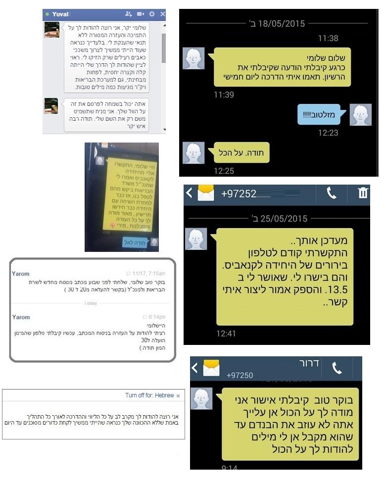 מטופלים מרוצים, המרכז הישראלי לקנאביס רפואי